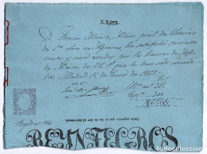 Manuscritos antiguos: LOTE.CONCEDE JEFE ADMINISTRACIÓN LOTERÍA PÚBLICA.ALGECIRAS.CADIZ. 1866 FIRMA ORIGINAL M.D.HACIENDA. - Foto 10 - 110133495