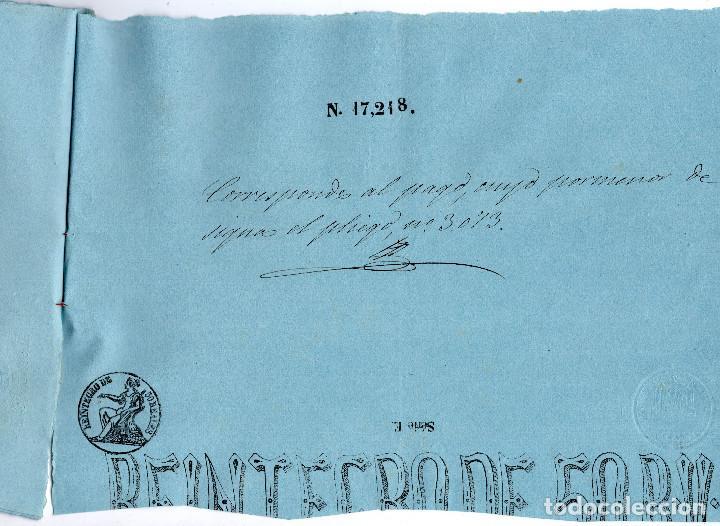 Manuscritos antiguos: LOTE.CONCEDE JEFE ADMINISTRACIÓN LOTERÍA PÚBLICA.ALGECIRAS.CADIZ. 1866 FIRMA ORIGINAL M.D.HACIENDA. - Foto 12 - 110133495