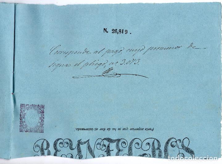 Manuscritos antiguos: LOTE.CONCEDE JEFE ADMINISTRACIÓN LOTERÍA PÚBLICA.ALGECIRAS.CADIZ. 1866 FIRMA ORIGINAL M.D.HACIENDA. - Foto 13 - 110133495