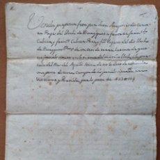 Manuscritos antiguos: DOCUMENTO MANUSCRITO VENTA DE TIERRAS EN DUESAIGÜES (BAIX CAMP-TARRAGONA) AÑO 1772 MAS DE AGUILO. Lote 110174555