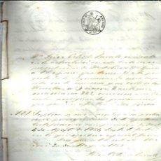 Manuscritos antiguos: M60- AÑO 1859 - MANUSCRITO - HIPOTECARIO CON SELLO EN SECO DE LA REINA ISABEL 2º + 2 SELLOS. Lote 110670563