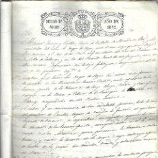 Manuscritos antiguos: M60- AÑO 1842 - MANUSCRITO - CON SELLO DE LA REINA ISBEL 2º - 4º DE 40 MARAVEDIES . Lote 110748523
