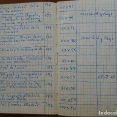 Manuscritos antiguos: LIBRETA 14,5 X 10,5 CUADROS PINTADOS 1968 1971, VENTAS Y PRECIOS, EXPOSICIONES, 85 PAGS APROX,. Lote 110808079