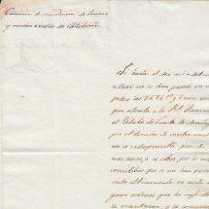 Manuscritos antiguos: RECAUDACIÓN DE LANZAS HISTÒRIA DE CATALUNYA CONDE DE MONTAGUT 1833 HERÁLDICA ROCAFORT DE QUERALT. Lote 111084627