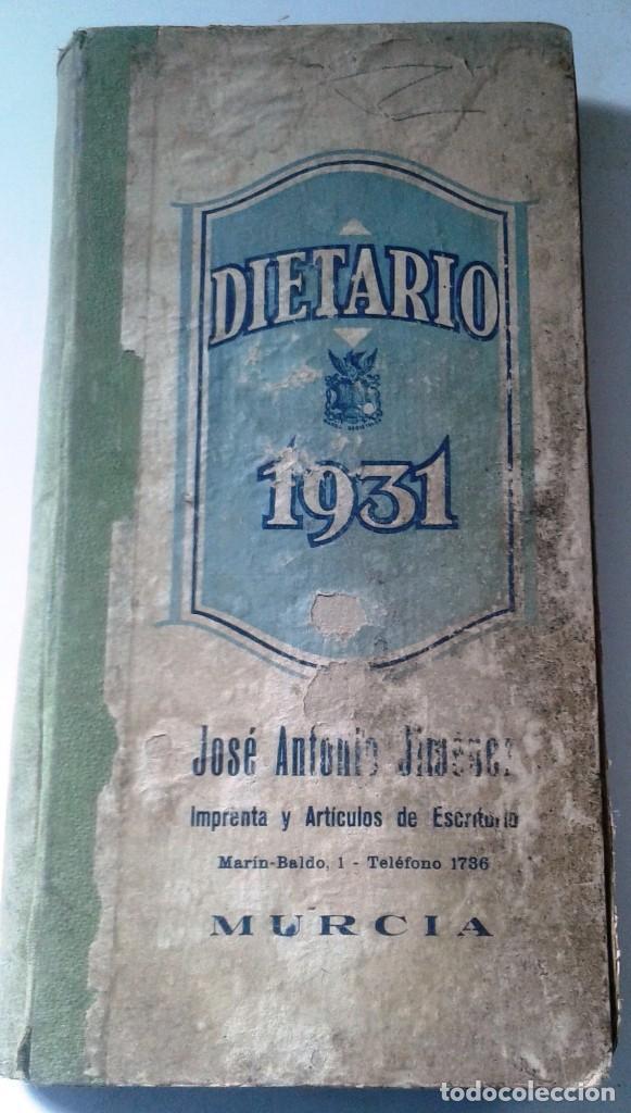 Manuscritos antiguos: DIETARIOS AÑOS 20 MANUSCRITOS LOTE DE 6 - Foto 5 - 111358139