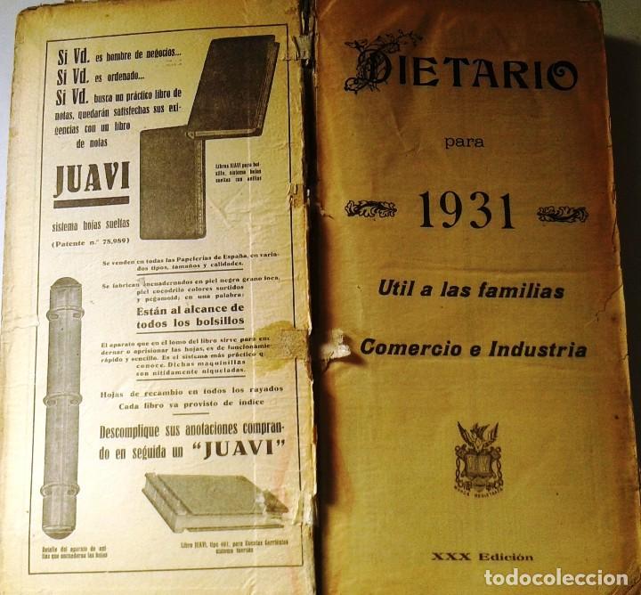 Manuscritos antiguos: DIETARIOS AÑOS 20 MANUSCRITOS LOTE DE 6 - Foto 7 - 111358139