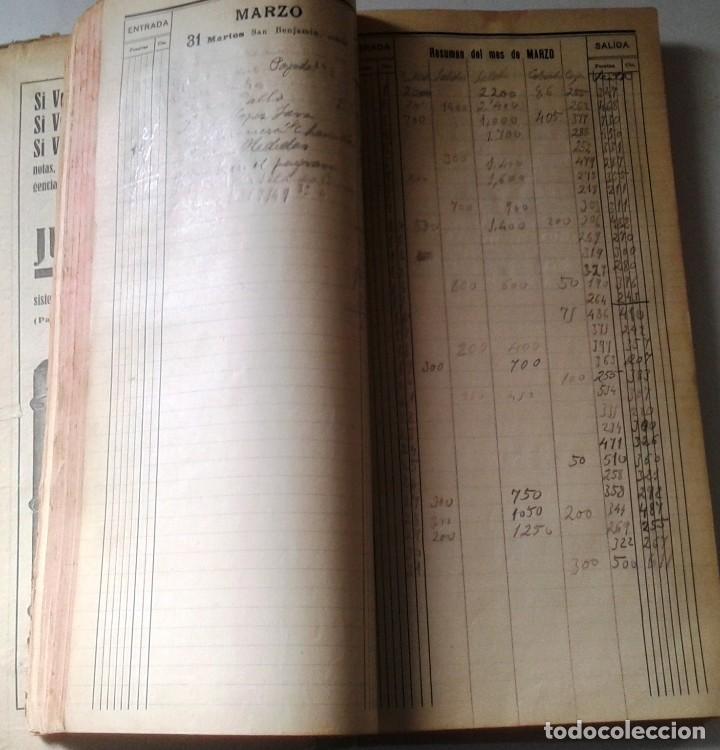 Manuscritos antiguos: DIETARIOS AÑOS 20 MANUSCRITOS LOTE DE 6 - Foto 9 - 111358139