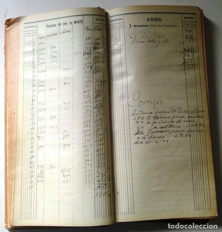 Manuscritos antiguos: DIETARIOS AÑOS 20 MANUSCRITOS LOTE DE 6 - Foto 10 - 111358139