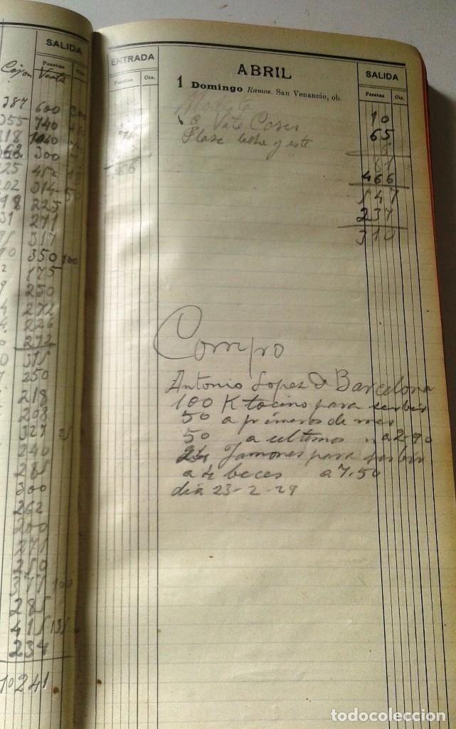 Manuscritos antiguos: DIETARIOS AÑOS 20 MANUSCRITOS LOTE DE 6 - Foto 11 - 111358139