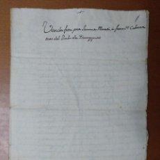 Manuscritos antiguos: ESCRITURA COMPRA VENTA DE UNA VIÑA Y AVELLANOS EN DOSAIGÜES EN LA PARTIDA DE LES COMAS. 1780. Lote 111667551