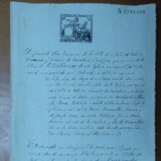 Manuscritos antiguos: CERTIFICADO DE BAUTISMO DEL PARROCO JUAN DALMAU DE SAN FELIU DE CODINAS 1884. Lote 111670719