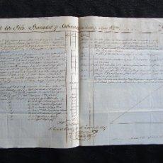 Manuscritos antiguos: FACTURA MANUSCRITA AÑO 1837 EL COMERCIO DE CUBA A ESPAÑA FIRMADO ANGEL MARIA CASTRICIONES MANUSCRITO. Lote 35213563
