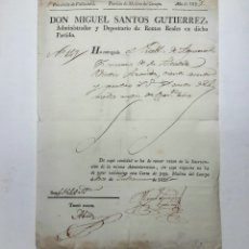 Manuscritos antiguos: AGUASAL. MEDINA DEL CAMPO. VALLADOLID. DOCUMENTO DE 1828.. Lote 112254563