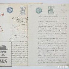 Manuscritos antiguos: MANUSCRITOS REGISTRO PROPIEDAD CON TIMBRES ESTADO- SAN GERVASIO DE CASSOLAS /GERVASI, BARCELONA,1914. Lote 112318539