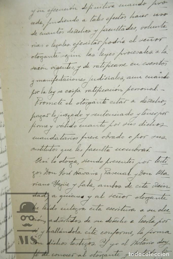 Manuscritos antiguos: Manuscritos Registro Propiedad con Timbres Estado- San Gervasio de Cassolas /Gervasi, Barcelona,1914 - Foto 4 - 112318539
