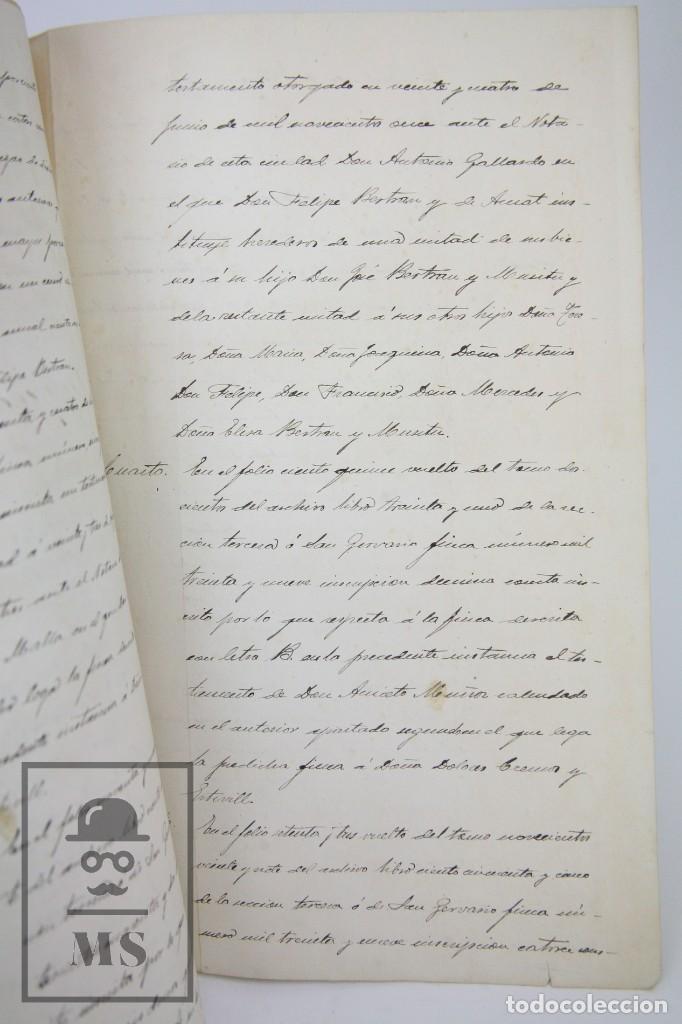 Manuscritos antiguos: Manuscritos Registro Propiedad con Timbres Estado- San Gervasio de Cassolas /Gervasi, Barcelona,1914 - Foto 7 - 112318539