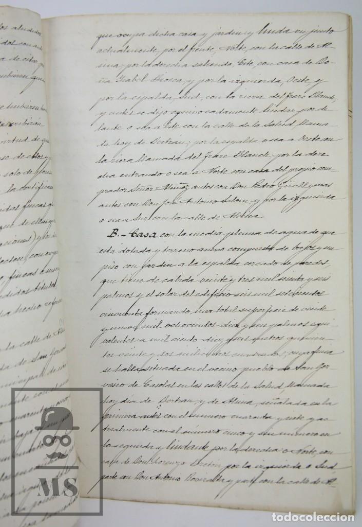 Manuscritos antiguos: Manuscritos Registro Propiedad con Timbres Estado- San Gervasio de Cassolas /Gervasi, Barcelona,1914 - Foto 8 - 112318539