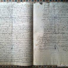 Manuscritos antiguos: FILIPINAS. MANUSCRITO 1614. FIRMA DEL ARZOBISPO. TESOROS GALEÓN DE MANILA. PAPEL DE ARROZ. 2 FOLIOS. Lote 112615524
