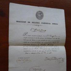 Manuscritos antiguos: MADRID, MILICIA NACIONAL, 1838, NOMBRAMIENTO CABO 2º, FIRMA ALCALDE CONSTITUCIONAL. Lote 112799019