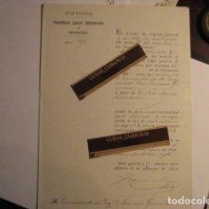 Manuscritos antiguos: GUERRA DE FILIPINAS - ESPAÑA - RARA CARTA MANUSCRITA COMANDANTE GENERAL INGENIEROS AÑO 1898. Lote 112939375