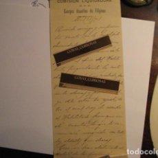 Manuscritos antiguos: GUERRA DE FILIPINAS - ESPAÑA - RARA CARTA MANUSCRITA COMISION LIQUIDADORA AÑO 1901. Lote 112939423