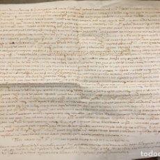 Manuscritos antiguos: 1584 MANUSCRITO SOBRE PERGAMINO MALLORCA. Lote 112963835
