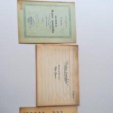 Manuscritos antiguos: PARTITURA MANUSCRITA ANTIGUA AÑO 1900 O ANTERIOR. Lote 112978031