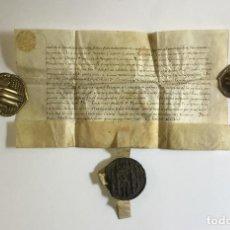 Manuscritos antiguos: [LICENCIA AL CONDE DE RIBAGORZA PARA TRASLADAR UNAS RELIQUIAS DE SANTOS DE LA CIUDAD DE COLONIA].. Lote 112990183