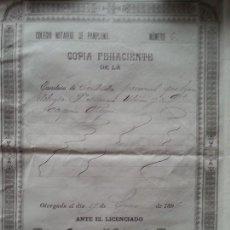 Manuscritos antiguos: CONTRATO DE TRABAJO DE HERRADOR 1897 HERNANI. Lote 113135439