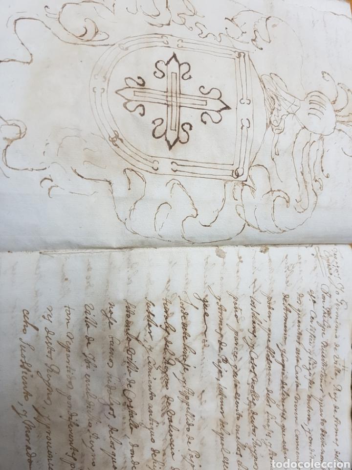 S.XVII.CERTIFICACIÓN Y BLASÓN DE ARMAS, PAYANES, PAYA CASTALLA, REYNO VALENCIA. GERONIMO DE VILLA. (Coleccionismo - Documentos - Manuscritos)