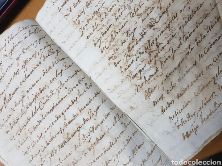Manuscritos antiguos: S.XVII.CERTIFICACIÓN Y BLASÓN DE ARMAS, PAYANES, PAYA CASTALLA, REYNO VALENCIA. GERONIMO DE VILLA. - Foto 3 - 113216256