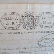 Manuscritos antiguos: ANTIGUO DOCUMENTO MANUSCRITO 1834 ACTA NOTARIAL ESCRITURA. Lote 113329868