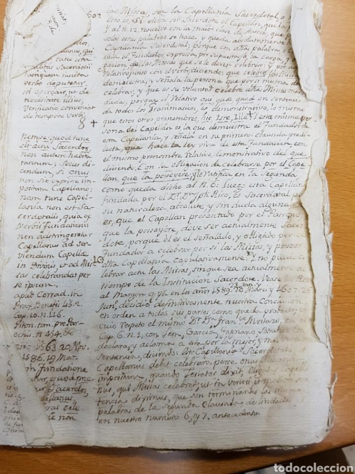 Manuscritos antiguos: s.XVIII - 1760, MONOVAR, ALICANTE, INTERESANTE DOCUMENTO, CAPELLANIA FUNDADA POR JOSEPH RICO - Foto 3 - 113444054