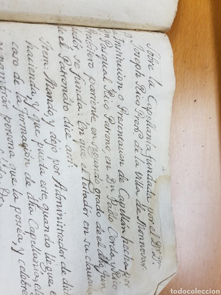 Manuscritos antiguos: s.XVIII - 1760, MONOVAR, ALICANTE, INTERESANTE DOCUMENTO, CAPELLANIA FUNDADA POR JOSEPH RICO - Foto 7 - 113444054