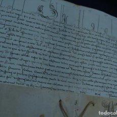 Manuscritos antiguos: DOCUMENTO EN PERGAMINO. DISPENSA PAPAL, CLEMENTE XI. ROMA 1718.. Lote 113709295