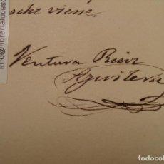 Manuscritos antiguos: VENTURA RUIZ AGUILERA, ORIGINAL. POESÍA MANUSCRITA Y FIRMADA POR ÉL.. Lote 113842431