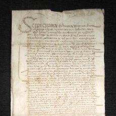 Manuscritos antiguos: AÑO 1566. DOCUMENTO MANUSCRITO ORIGINAL SIGLO XVI. ESPAÑA. . Lote 113962583