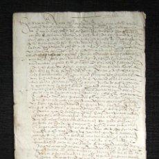 Manuscritos antiguos: AÑO 1562. DOCUMENTO MANUSCRITO ORIGINAL SIGLO XVI. ESPAÑA. . Lote 113962791