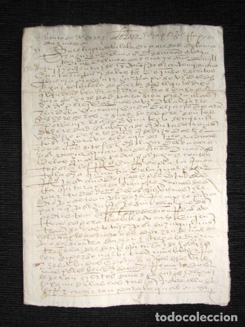 AÑO 1586. DOCUMENTO MANUSCRITO ORIGINAL SIGLO XVI. ESPAÑA. (Coleccionismo - Documentos - Manuscritos)