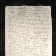 Manuscritos antiguos: AÑO 1586. DOCUMENTO MANUSCRITO ORIGINAL SIGLO XVI. ESPAÑA. . Lote 113963087