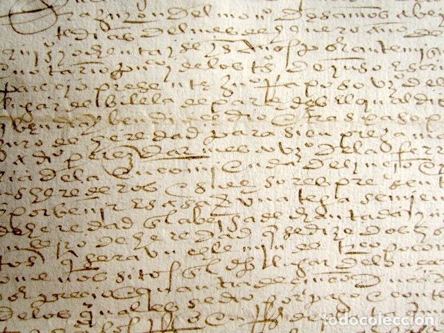 Manuscritos antiguos: AÑO 1586. DOCUMENTO MANUSCRITO ORIGINAL SIGLO XVI. ESPAÑA. - Foto 2 - 113963087