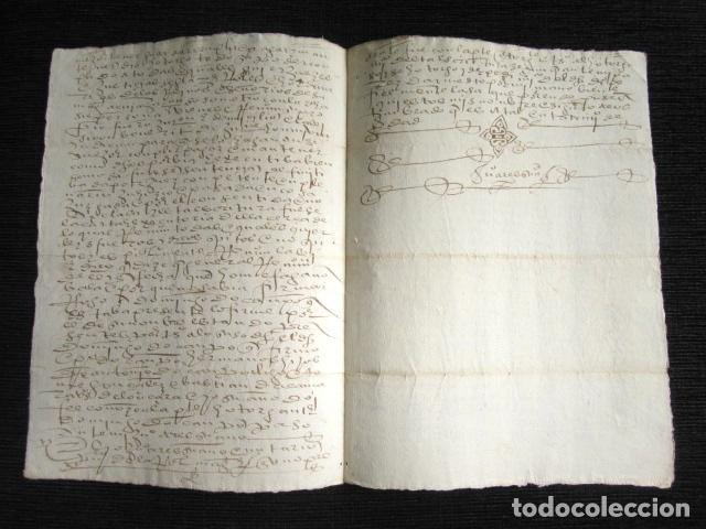 Manuscritos antiguos: AÑO 1586. DOCUMENTO MANUSCRITO ORIGINAL SIGLO XVI. ESPAÑA. - Foto 3 - 113963087