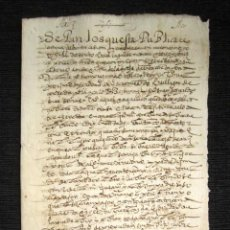 Manuscritos antiguos: AÑO 1603. DOCUMENTO MANUSCRITO ORIGINAL SIGLO XVII. ESPAÑA. . Lote 113963511