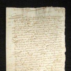 Manuscritos antiguos: AÑO 1604. DOCUMENTO MANUSCRITO ORIGINAL SIGLO XVII. ESPAÑA. . Lote 113963567