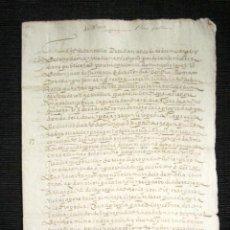 Manuscritos antiguos: AÑO 1608. DOCUMENTO MANUSCRITO ORIGINAL SIGLO XVII. ESPAÑA.. Lote 113963703