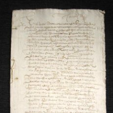 Manuscritos antiguos: AÑO 1616. DOCUMENTO MANUSCRITO ORIGINAL SIGLO XVII. ESPAÑA.. Lote 113963783