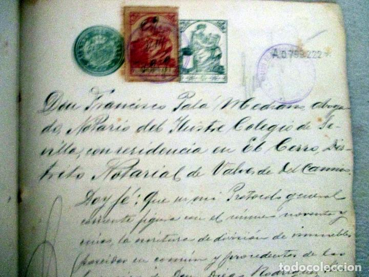 VALVERDE DEL CAMINO. ESCRITURAS MANUSCRITAS 1919. PÓLIZA 10ª CLASE 2 PESETAS (Coleccionismo - Documentos - Manuscritos)