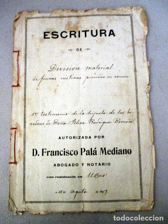 Manuscritos antiguos: VALVERDE DEL CAMINO. ESCRITURAS MANUSCRITAS 1919. PÓLIZA 10ª CLASE 2 PESETAS - Foto 2 - 114017723