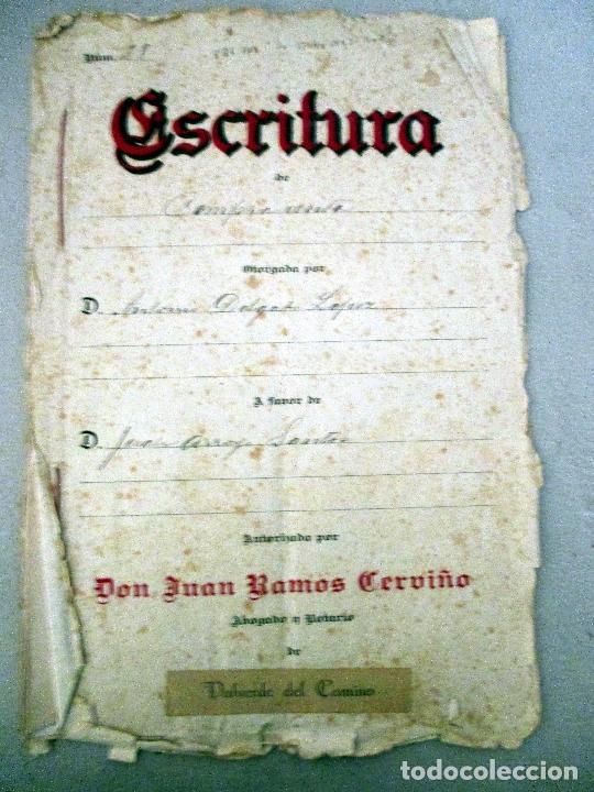 VALVERDE DEL CAMINO. ESCRITURAS MANUSCRITAS 1923. (Coleccionismo - Documentos - Manuscritos)