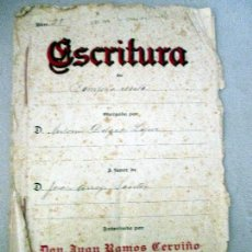 Manuscritos antiguos: VALVERDE DEL CAMINO. ESCRITURAS MANUSCRITAS 1923.. Lote 114018831